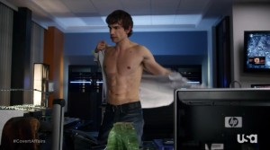 christopher gorham shirtless covert affairs